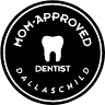 Mom  Approved dentist badge